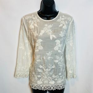 Zara Women Lace Tunic